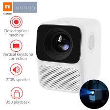Xiaomi Wanbo <b>T2 Free LCD Projector</b> LED Support 1080P Vertical ...