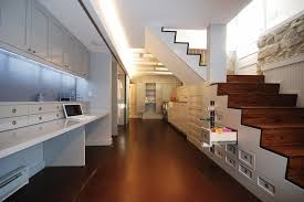 contemporary basement home office design under stairs cupboard ideas area homeoffice homeoffice interiordesign understair