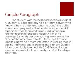 persuasive writing steps in the writing process   ppt download sample paragraph the student with the best qualification is student a student as coaches say