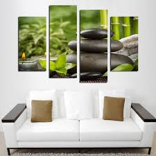 decor spa poster unframed  piece bamboo stone scenery modern home wall decor canvas pic
