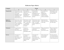rubric for reflection paper google search small group rubric for reflection paper google search