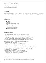 professional ekg technician templates to showcase your talent    resume templates  ekg technician