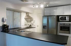 inspiring cabinets lighting built in black modern granite ideas furniture island l shape white cabinet lighting backsplash home