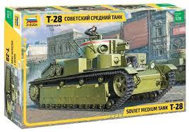 <b>Сборная модель ZVEZDA Советский</b> средний танк Т-28 (3694) 1:35