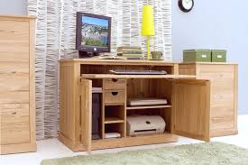 mobel oak hidden home office furniture baumhaus mobel solid oak printer