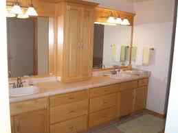 painted mahogany wood bathroom wall cabinet