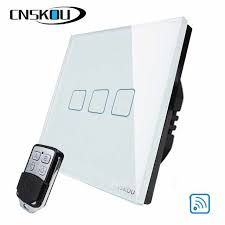 <b>EU Standard</b> 3Gang Remote Control Light Smart Touch Switch ...