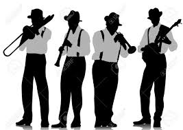 Image result for creative commons jazz images black and white silhouette