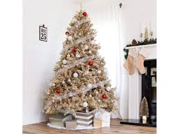 9 <b>Gold Christmas</b> Trees to Light Up Your Living Room | Southern ...