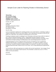 cover letter for elementary school teaching position school sample cover letter for teaching position in elementary school preview