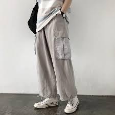 <b>HOUZHOU</b> Cargo Pants Women Harajuku Pants Loose Vintage ...