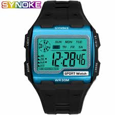 <b>SYNOKE</b> Men Digital <b>Watches</b> Sports <b>Colorful</b> Stainless Steel Belt ...