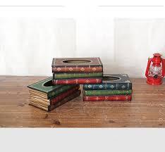 1PC New Retro Continental Books Tissue <b>Box</b> Cassic Book Shape ...
