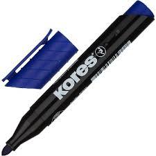 <b>Маркер перманентный KORES</b> синий 1,5-3 мм круглый наконечник