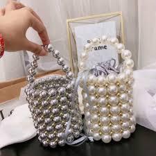 Fashion <b>Pearl Beaded</b> Women's <b>Handbags Luxury Handmade</b> ...