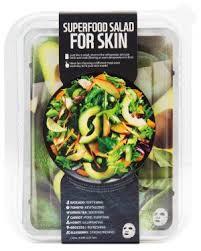 <b>superfood salad for skin</b> facial sheet mask avocado package
