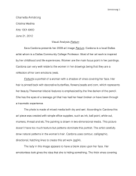 visual analysis essay visual analysis essay armstrong charnetta armstrongcristina medinaarts  june