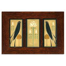 4x8 <b>Songbirds</b> Framed Tile Set (<b>Golden</b>) | Motawi Tileworks