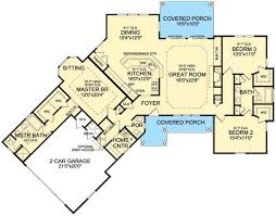 images about house designs on Pinterest   Floor Plans  Ranch    Good one story plan I would love to build except I would add a bonus room
