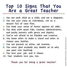 Top 10 Signs That You Are a Great Teacher | Co Workers, Teacher ... via Relatably.com