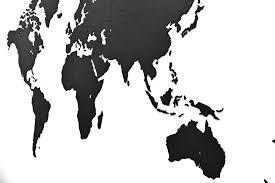 <b>Деревянная карта мира</b> World Map Wall Decoration Large, черная ...