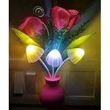 Dim <b>Mushroom</b> Light <b>Green Flower</b> – Multicolor: Buy Online at Best ...