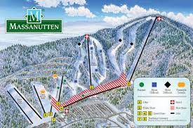 massanutten ski resort trail snow conditions report va trail map