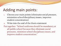 thesis statements no thesis no essay gives direction and focus  adding main points  choose your main points eliminates social pressure minimizes