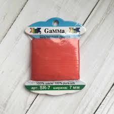 <b>SR</b>-<b>7 7</b> мм <b>Лента</b> декоративная <b>Gamma</b> шелковая №101 красный ...