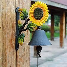 LXYFMS Sunflower Retro <b>Wrought Iron doorbell cast</b> Iron Crafts ...