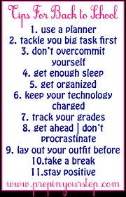 Image result for back to school advice