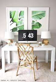 im actually really getting into the whole palm beach bamboo wood furniture trend beach office decor