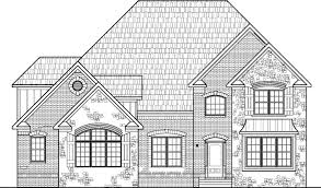 House Drawings Bedroom Story House Floor Plans   BasementUnique Stone House Plans Two Story Five Bedroom Bath Basement Car Garage Cincinnati Cleveland
