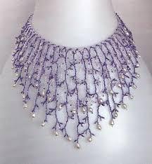 Жемчужный блеск / Колье, бусы, ожерелья | Схема колье, Бисер ...