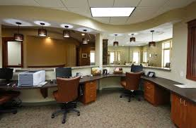 beautiful office interior designs in modern concept minimalist chandeliers brown swivel chairs classic motives carpet beautiful office layout ideas