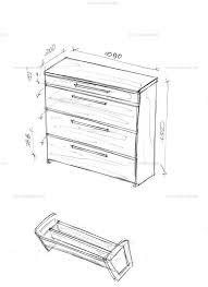 <b>Узкая тумба для обуви</b>.   Эскизы мебели для наших клиентов ...