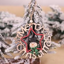 New <b>Christmas Decoration</b> Natural Wooden Hand-painted ...