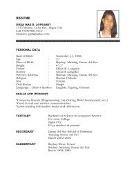examples of resumes computer basic resume model simple format 79 amazing basic resume format examples of resumes