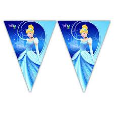 Disney <b>Cinderella</b> Happy Birthday Party Themed Flag Bunting ...