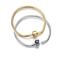 316L <b>Silver</b> gold stainless steel Snake Chain Link Bracelet fit ...