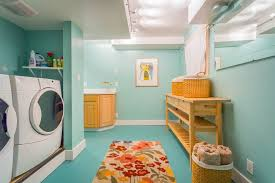 thrasher basement for a beach style laundry room with a wicker baskets and west seattle waterfront beach style laundry room