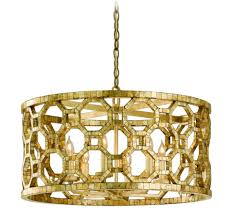 round gold iron capiz shell chandeliers drum pendant lighting decorating