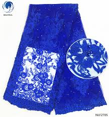 <b>BEAUTIFICAL French lace</b> fabrics Blue tulle <b>lace</b> embroidery fabric ...