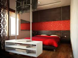 red wall paint black bed: red wall paint color and white chair upholstery fabric
