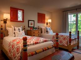 Southwest Bedroom Decor Santa Fe New Mexico Adobe Home Southwestern Decorating Ideas