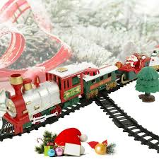 <b>Christmas Electric Rail</b> Car <b>Train Toy</b> Children's <b>Railway</b> Racing ...
