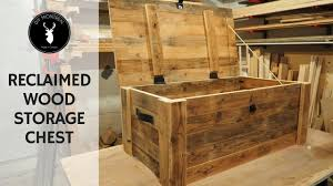 Build a <b>storage chest</b> from <b>reclaimed</b> wood - YouTube