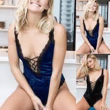 New <b>Sexy Velvet</b> Lingerie <b>Women</b> Lingerie Nightwear Underwear G ...