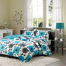 blue floral background bedroom