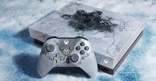 <b>Microsoft</b> unveils Gears-themed <b>Xbox One</b> X console that looks frozen